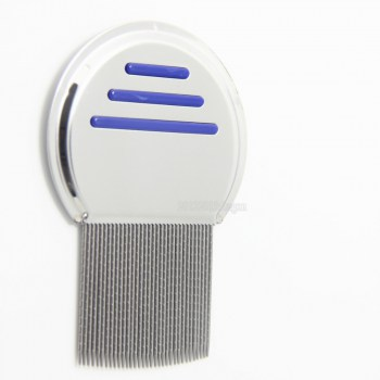 Blue-color-Terminator-Lice-Comb-Nit-Free-Kids-Hair-Rid-Headlice-stainless-steel-Metal-Teeth-remove