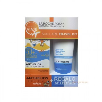 pack-leche-solar-anthelios-dermo-pediatrics-spf-50-gel-aftersun-posthelios-la-roche-posay