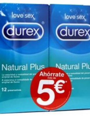Durex Natural Plus Duplo 12+12