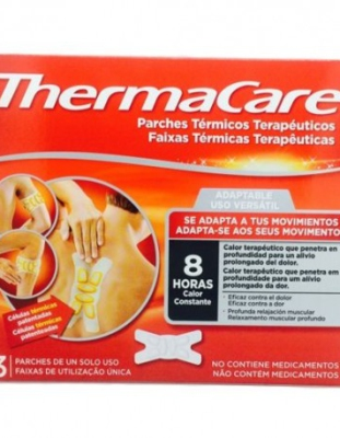 THERMACARE 3 PARCHES ADAPTABLE
